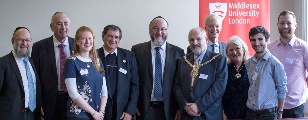 Es Rosen and Trevor Alexander ( Chair and Vice chair of the BMFF) were present at the invitation of the Vice Chancellor of Middlesex University and were privileged to hear the Chief Rabbi Ephraim Mirvis...