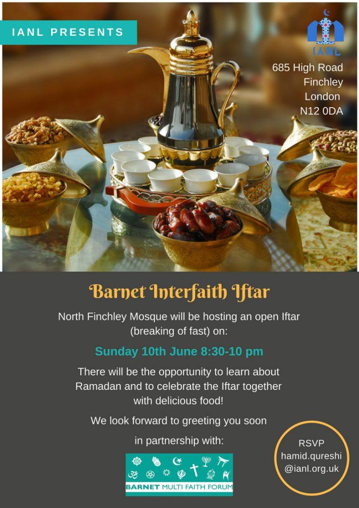 Barnet Interfaith Iftar - 10th June