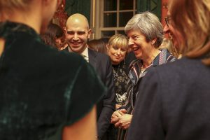 PrimeMinister Theresa May held a reception at Downing Street on the matters of Antisemitism and Anti-sexism.