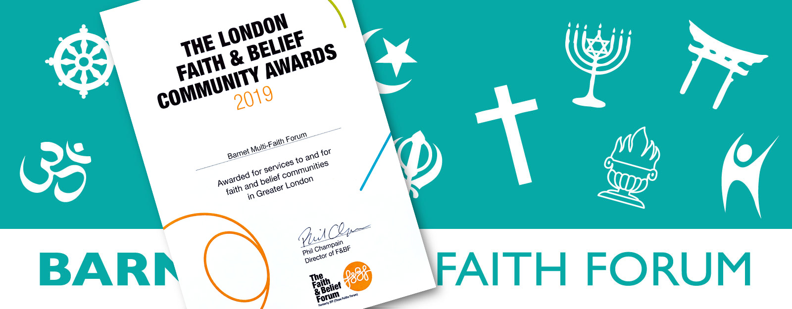 Barnet Multi Faith Forum recognised in the London Faith & Belief Community Awards