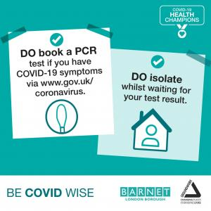 Do book a PCR test if you have symptoms