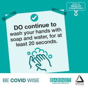 Continue to wash your hands