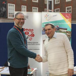 Trevor and Es at the Middlesex University Fair Trade Fair 2019