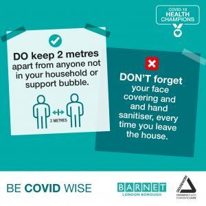 Do keep 2 metres apart